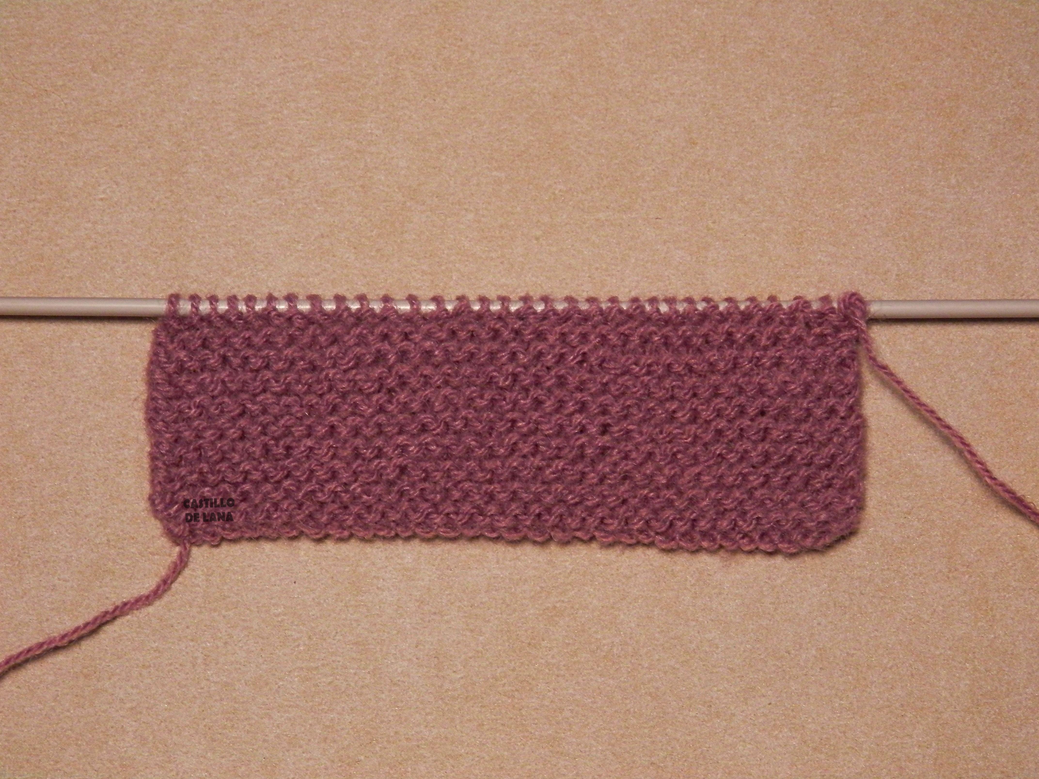 Explicaci n pantal n corto sencillo para beb el - Puntos de lana ...